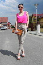 Zara pants - ISLO bag - Mango sunglasses - Zara top - Accessorize belt
