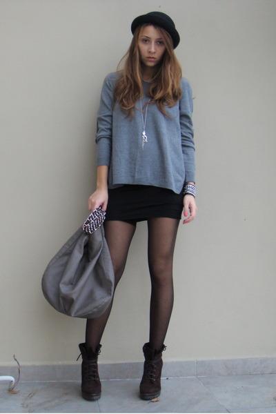 Charcoal Gray Hm Sweaters Black Custom Made Dresses Gray Zara