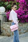 Sky-blue-thrifted-jeans-light-pink-thrifted-shirt-light-pink-cmood-bag