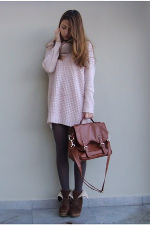 H&M sweater - Bershka shoes - H&M bag