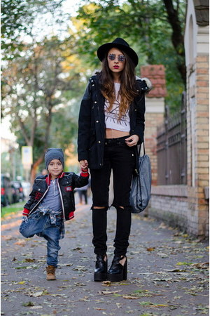 black Lamoda UK shoes - black c&a jacket - white Choies top - black Levis pants
