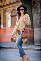 camel Mart of China sweater - blue Magazin Up jeans