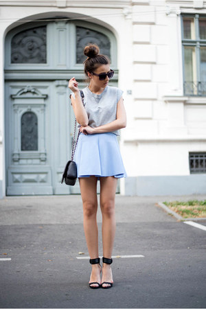 light blue Sheinside skirt