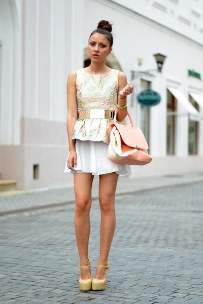 PERSUNMALL top - nowIStyle bag - Sheinside heels - custom made skirt