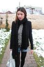 Blue-cutted-jeans-white-custom-made-top-black-zara-jacket-black-bershka-sc