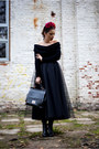 Black-mono-shoes-boots-black-chicwish-sweater-black-bad-style-skirt