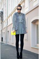 heather gray c&a sweater - heather gray Mart of China skirt