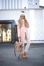 Light-pink-kapa-center-coat-off-white-pants