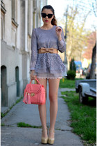 salmon BangGood bag - heather gray OASAP blouse