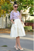 violet OASAP sweater - light pink nowIStyle bag - white custom made skirt