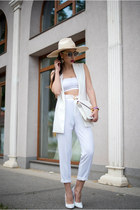white hat - white pants