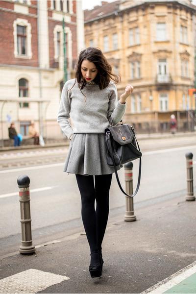 gray Chicwish skirt - heather gray Chicwish sweater