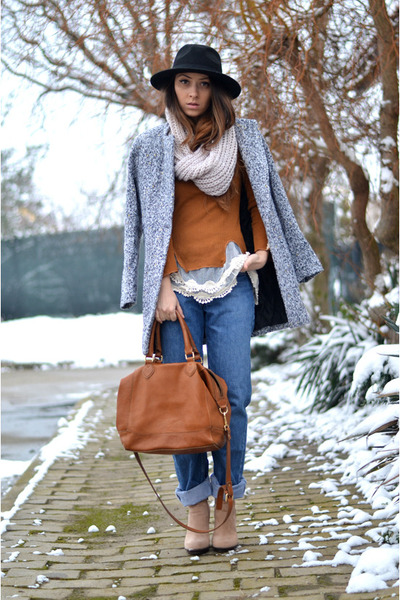 silver Sheinside coat - tawny Rosewholesale sweater