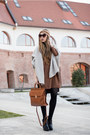 Brown-sheinside-dress-gray-cardigan