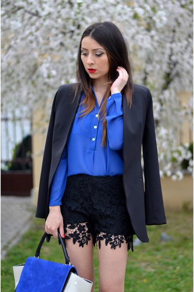black Magazin Up blazer - blue Magazin Up shirt - black Magazin Up shorts