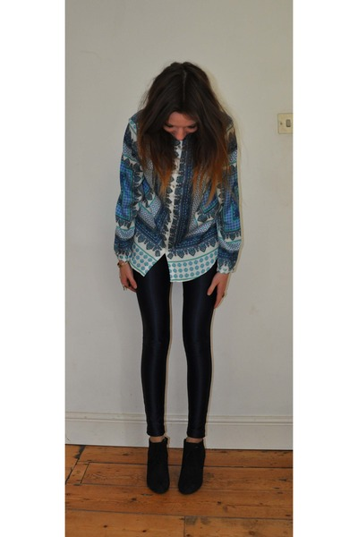 disco pants American Apparel pants - Zara shirt