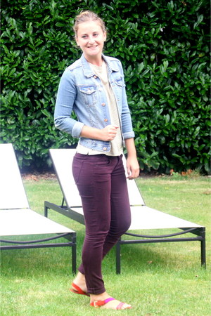H&M jeans - H&M jacket - Topshop top - Zara sandals