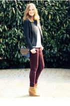 Yildiz&I bag - H&M jeans - Topshop jacket - Magenta bracelet - Zara wedges