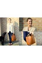 Zara blazer - Zara bag - Urban Outfitters loafers
