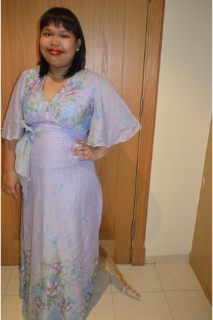light purple vintage maxi River Island dress