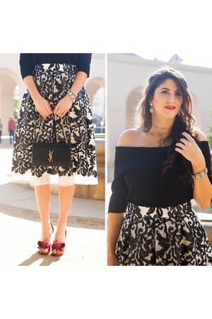 white Eliza J skirt
