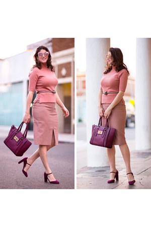 light pink ann taylor skirt