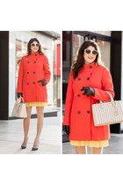 red ann taylor coat
