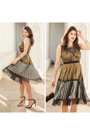 silver bcbg max azria dress