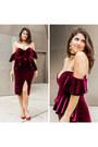 Crimson-velvet-asos-dress