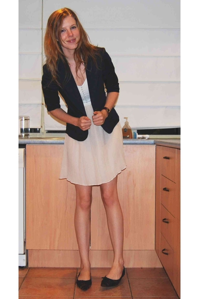 blue juice dress - cotton on blazer - accessories - Target Australia shoes