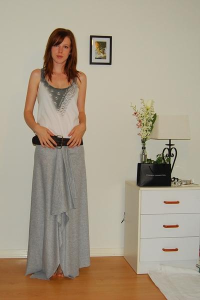 Sportsgirl top - Myer belt - skirt