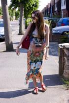 echo designs dress - Hidee bag - Zazzy necklace - Birkenstock sandals