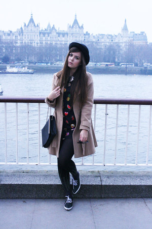 Primark dress - asos coat - new look hat - TK Maxx tights - Zara bag