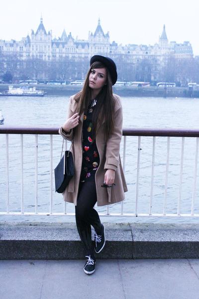 Primark dress - asos coat - new look hat - TK Maxx tights - Zara bag