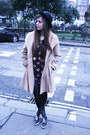 Primark-dress-asos-coat-new-look-hat-tk-maxx-tights-zara-bag