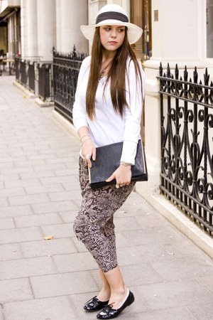 Zara bag - new look pants - svarowski bracelet - The White T-shirt Co top