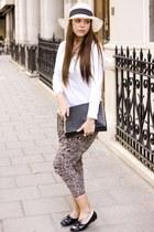 Zara bag - new look pants - svarowski bracelet - The White T-shirt Co top