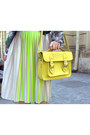 Green-tina-r-shirt-yellow-new-yorker-bag-cream-h-m-skirt-teal-h-m-vest