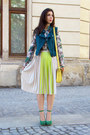 Cream-h-m-skirt-green-tina-r-shirt-yellow-new-yorker-bag-teal-h-m-vest