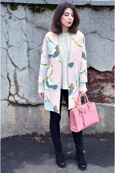 light pink hm coat