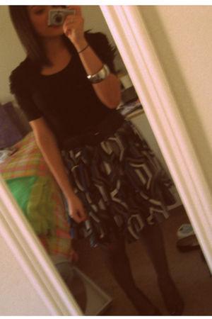 black Forever 21 top - Forever 21 skirt - Target tights - Aldo shoes