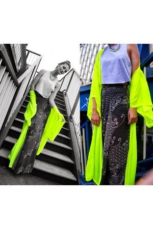 maxi skirt Topshop skirt - crop top Topshop top