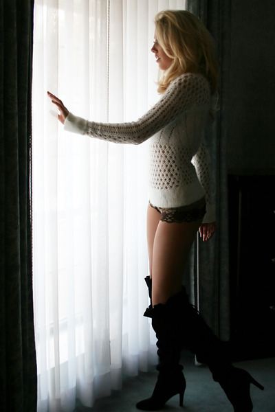 white sweater - gold intimate - black Kelsi Dagger boots