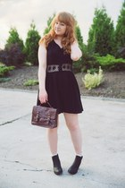 black lace Topshop dress