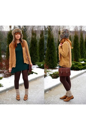 bronze NN sweater - dark green Topshop skirt - burnt orange Zara loafers