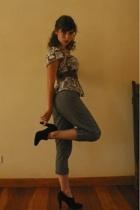 H&M shirt - pants - Zara shoes - belt