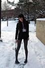 Black-velvet-american-apparel-hat-velvet-armani-blazer-cheetah-print-vintage