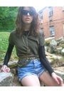 Green-diy-shirt-black-forever-21-shirt-blue-calvin-klein-shorts-black-vint