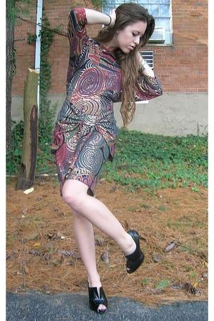 black Cache dress - black Charlotte Russe shoes - silver vintage bracelet