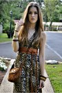 Brown-shoulder-bag-vintage-bag-army-green-leopard-print-vintage-dress